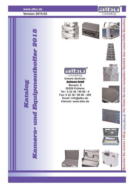 Katalog Kamera- und Equipmentkoffer 2015