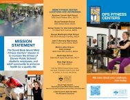 DPS Fitness Centers Mission Statement - Curriculum and ...