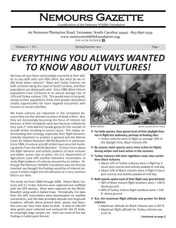 Nemours Newsletter Spring-Summer 2012 - Nemours Wildlife ...
