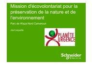 Mission d'écovolontariat pour la préservation de la nature et de l ...