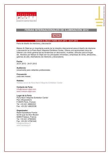 CALENDARIO FERIAS 2012 - Fedai Dec