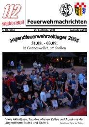 Feuerwehrnachrichten Ausgabe 03-2005 - Neunkirchen, Nahe