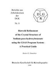 Berichte aus Arbeitskreisen der DGK Nr. 8 Rietveld Refinement of ...