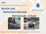 Bericht zum Radverkehrskonzept Michelstadt - Erbach