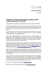 Komplette Pressemitteilung zum Download (PDF) - Open New ...