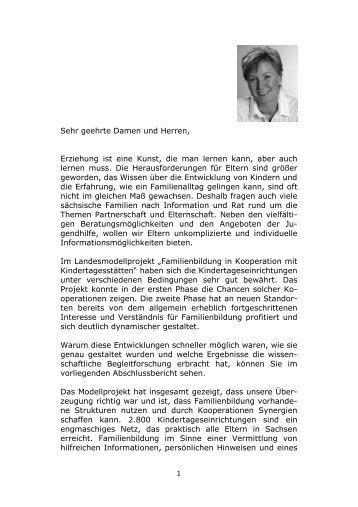 LMP 2. Modellphase Endbericht - Familie - Freistaat Sachsen