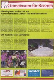 GfR Beetaktion am Sülztalplatz - media.gemeinsam-fuer-roesrath.de