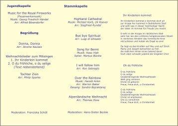 Konzertprogramm - Musikkapelle Rietheim