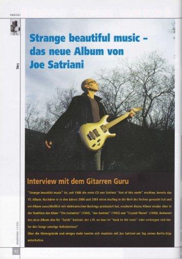 Interview der Gitarristin mit Joe Satriani