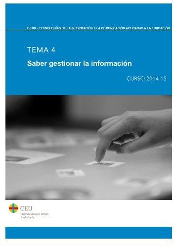 TEMA 4 Saber gestionar la información