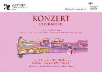 Konzert - Musikverein Zürich-Höngg