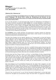 Pressebericht (PDF, 10K) - Musikverein Eintracht Hoengg