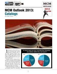 MCM Outlook 2013: Catalogs - Multichannel Merchant