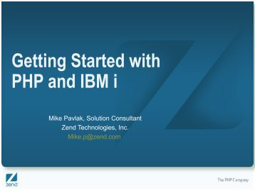 Getting Started with PHP and IBM i