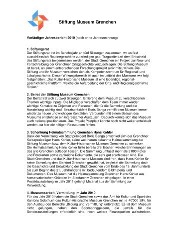 Stiftung Museum Grenchen - Kultur-Historisches Museum Grenchen