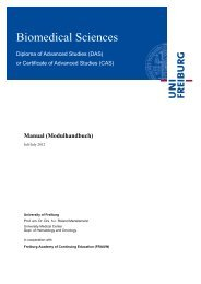 Biomedical Sciences - Weiterbildung - Albert-Ludwigs-Universität ...