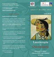 Laserterapia Odontoiatria - Ordine dei Medici di Messina