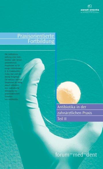 forum–med–dent Praxisorientierte Fortbildung - Dental-Pharma