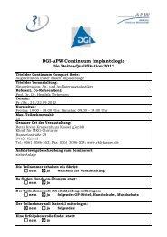 DGI-APW-Continuum Implantologie