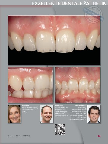Exzellente dentale Ästhetik (Quintessenz 3/2012) - Dr. Michael Fischer