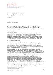 Bundesgesetz über die Förderung der Hochschulen und die ...