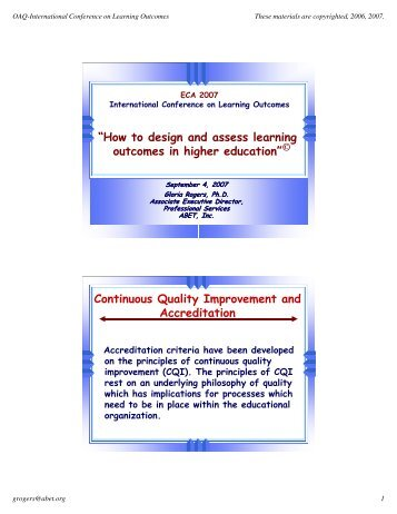 thesis about learning outcomes
