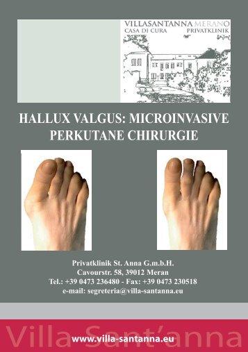 hallux valgus: microinvasive perkutane chirurgie - Villa Sant'Anna