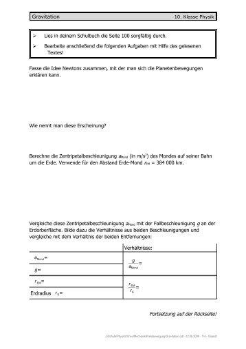 Gravitationsgesetz Magazine
