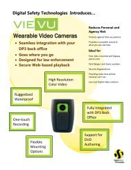 Wearable Video Cameras - Digital Safety Technologies