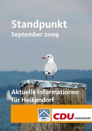 Hier der Standpunkt für September 2009 - CDU Heikendorf
