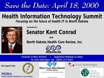 Summit Brochure-2.indd - Center for Rural Health - University of ...