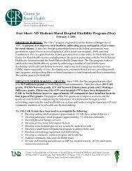 Fact Sheet: ND Medicare Rural Hospital Flexibility Program (Flex)