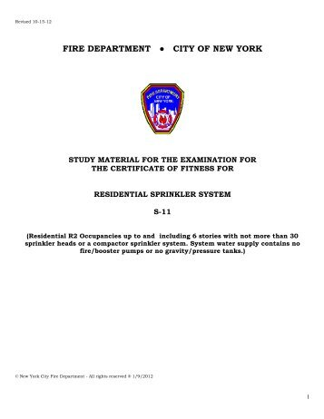 FIRE DEPARTMENT CITY OF NEW YORK - NYC.gov