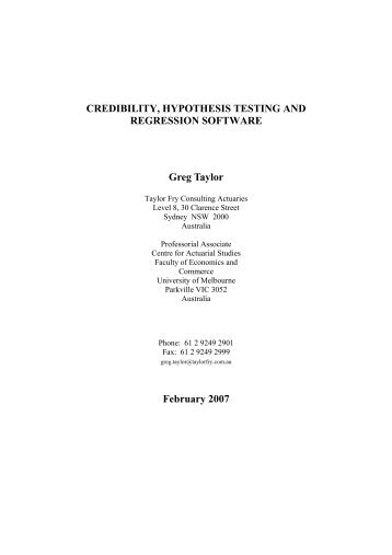 hypothesis testing and regression analysis paper Statistical hypothesis testing is used to determine whether an experiment conducted provides enough evidence to reject a proposition  course-material, papers.
