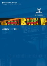 Annual Report 2001 - Faculty of Business and Economics - The ...