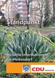 Hier der Standpunkt für April 2010 - CDU Heikendorf