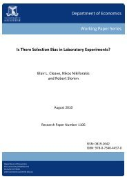Is There Selection Bias in Laboratory Experiments? - Faculty of ...