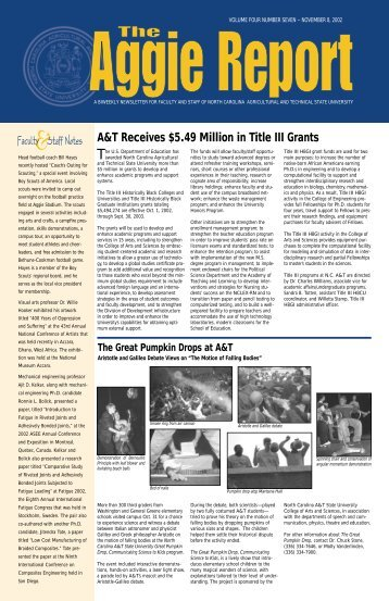 A&T Receives $5.49 Million in Title III Grants - North Carolina A&T ...