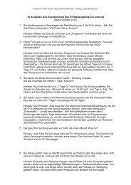 10 Aufgaben zum Kennenlernen des Ö1 Webangebotes im Internet