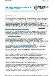 Stellungsnahme des wissenschaftlichen Betriebsrats der Universität ...