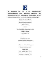 Die Politechnische Schule / Master Thesis - Fachdidaktikzentrum ...