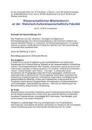 An der Universität Wien - Fachdidaktikzentrum Geschichte ...
