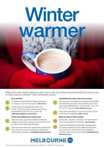 Winter Warmer - Melbourne Bike Share