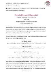 Einladung Politische Bildung und Zivilgesellschaft am 18 10 2011