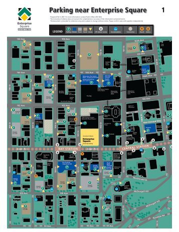 Downtown Parking Map - University of Alberta