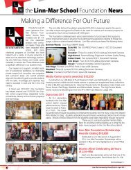 Making a Difference For Our Future - Linn-Mar School Foundation