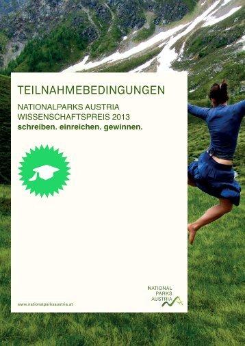 NATIONALPARKS AUSTRIA WISSENSCHAFTSPREIS 2013 ...