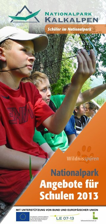 Schulprogrammes. - Nationalparks Austria