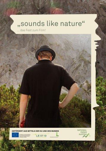 """sounds like nature"" - Nationalparks Austria"