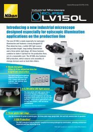Introducing a new industrial microscope designed ... - Optoteam.at